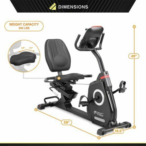 Circuit Fitness AMZ-587R Recumbent Bike