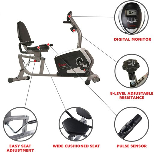 Sunny SF-RB4616 Recumbent Bike